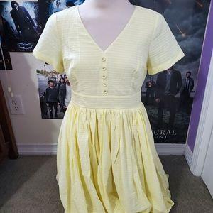 Modcloth Yellow Vintage Style Dress
